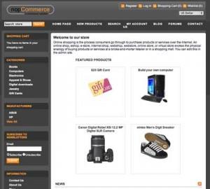 NopCommerce Shopping Cart