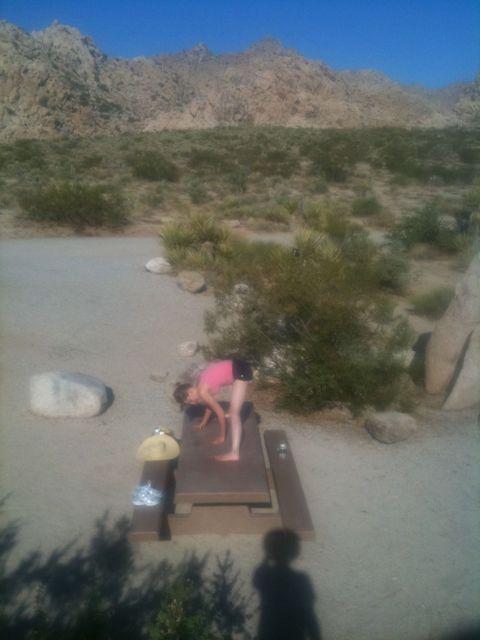 Tara doing yoga