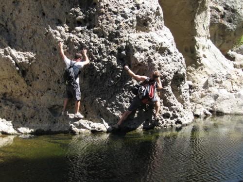 Malibu Creek Rock Climbing