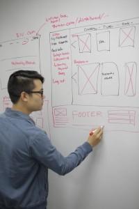 Coalition's Los Angeles Web Designer plays with design ideas