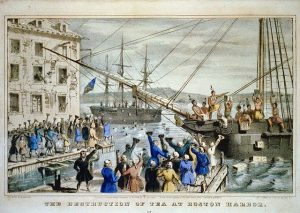 Boston Tea Party - American Revolution started over smaller taxes and less obvious theft than the current bailouts